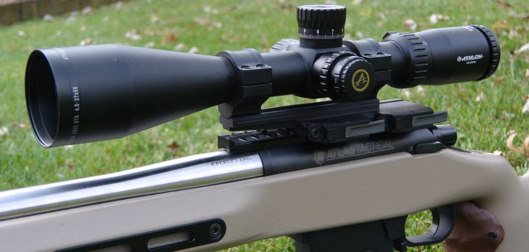 Athlon Ares BTR 4.5-27x50mm in Bobro mount on a Kebly's Atlas Tactical rifle