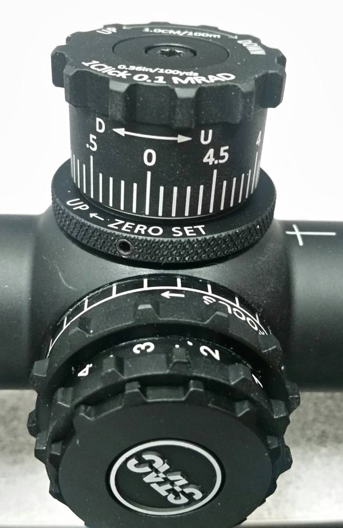 Sightron's new zero stop concept on an upcoming S-Tac mil/mil FFP scope