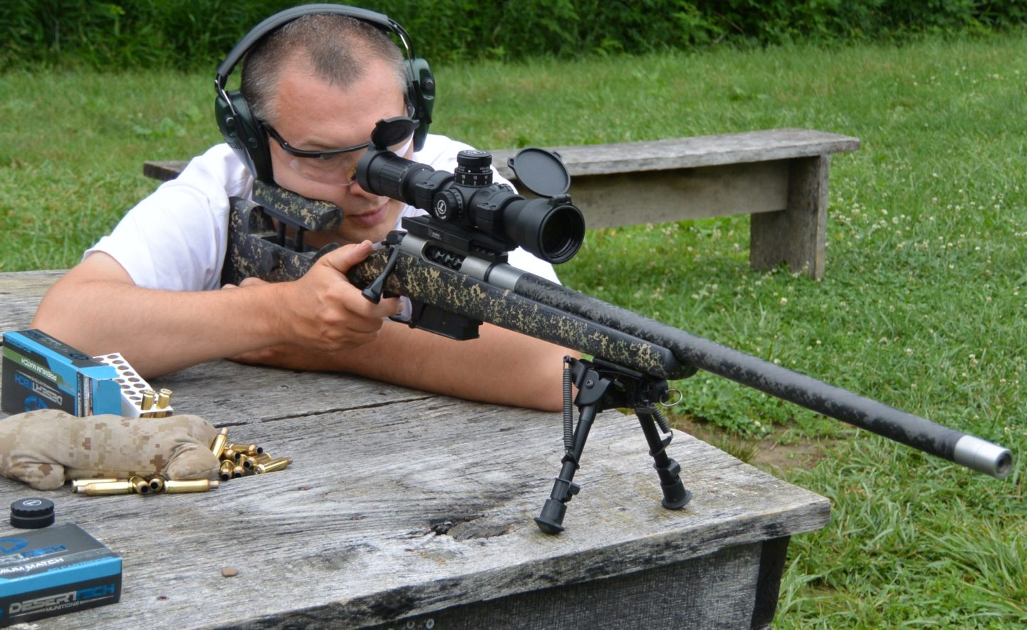 Mesa Precision Arms Crux Ti in McMillan Adjustable Game Warden Edge Carbon Stock at 1000 Yards