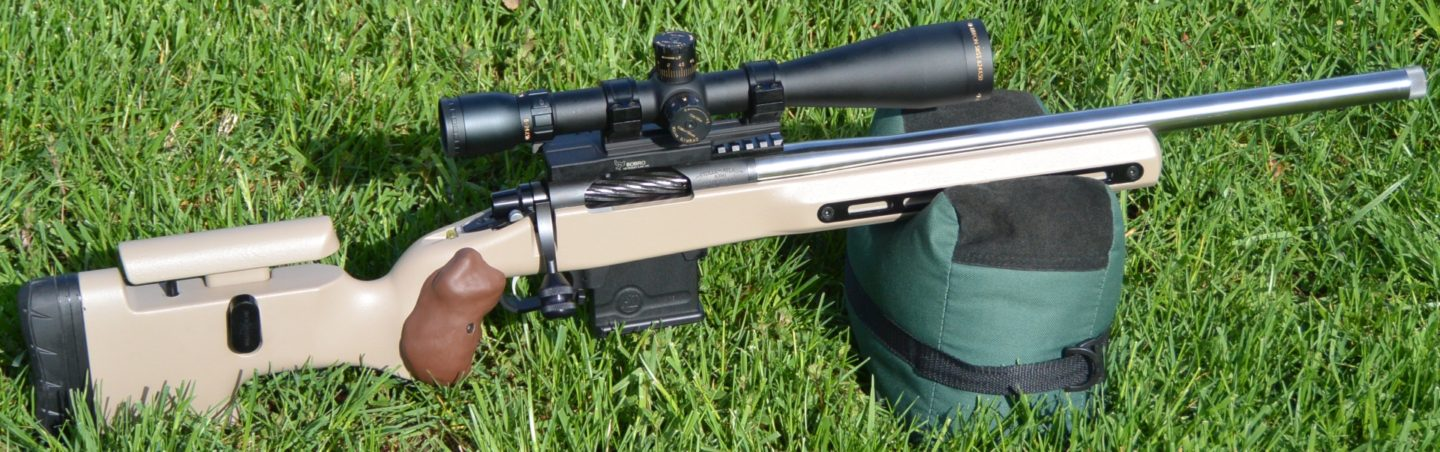 Grayboe Ridgeback with Kelbly Atlas Tactical rifle after bedding and stock modifications