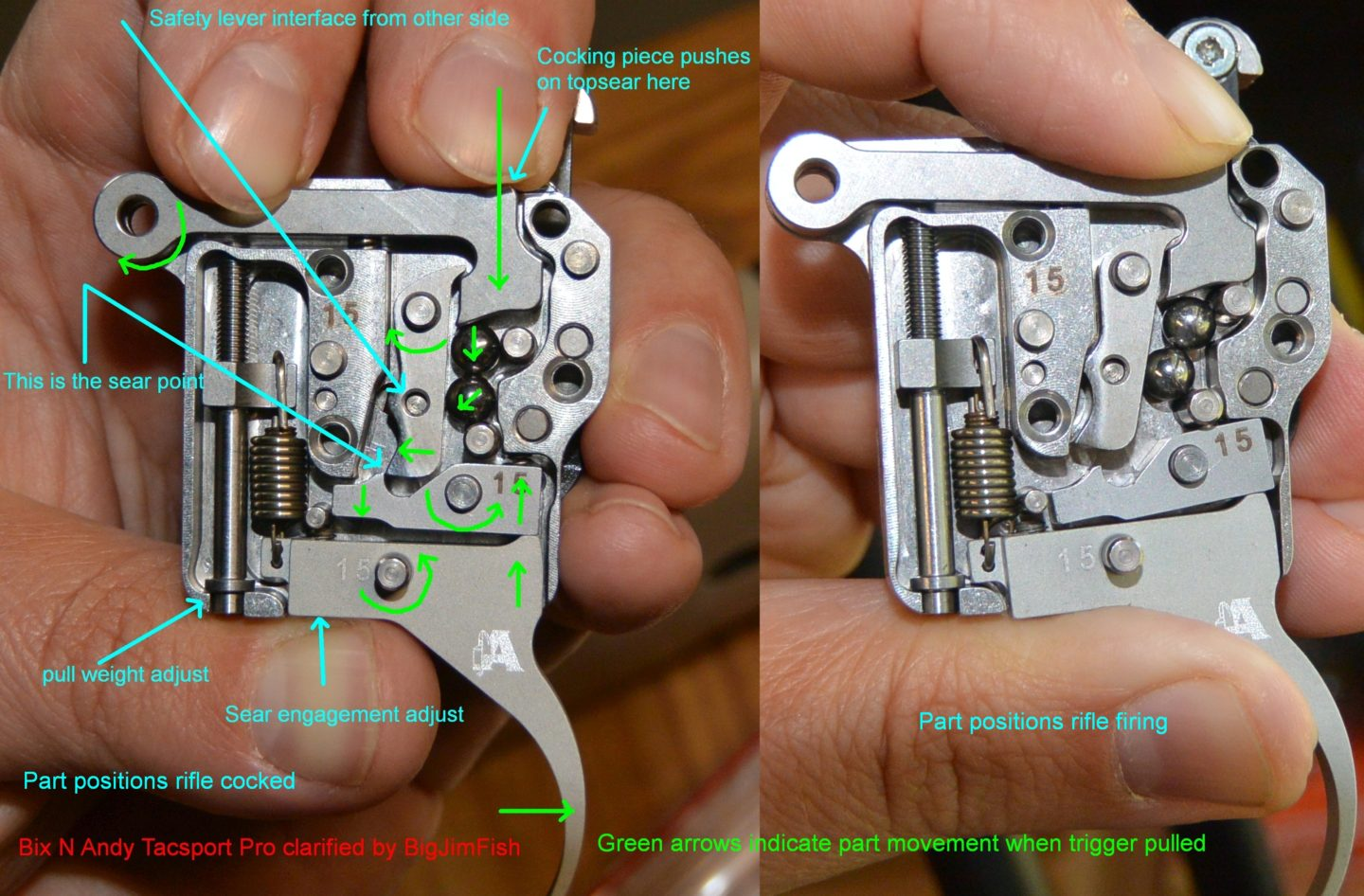Bix'n Andy Tacsport functional illustration with ready to fire part positions left and mid firing positions right.