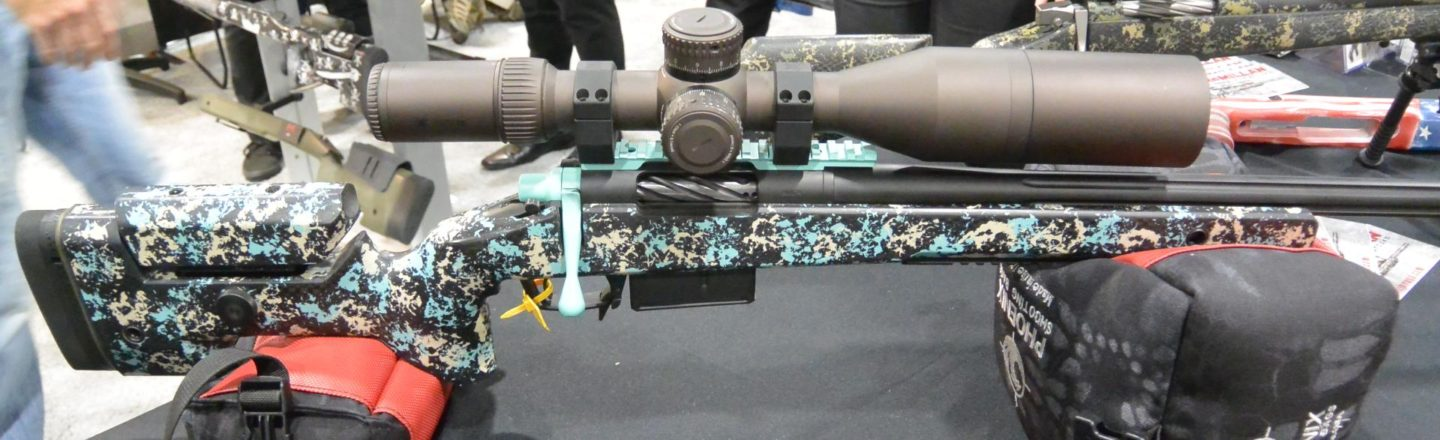 Britainy McMillan's personal A10 in Tiffany blue at SHOT Show 2019