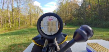 The shooter's view behind the Meopta Optika6 5-30x56 RD FFP scope