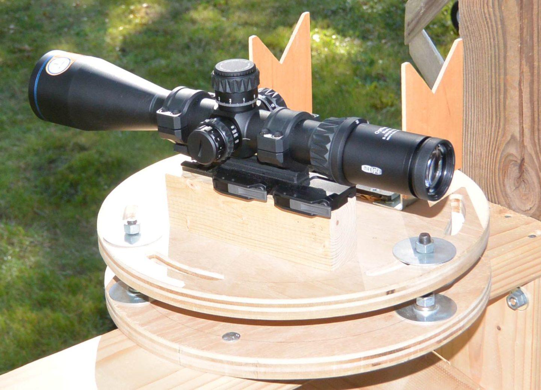 Meopta Optika6 5-30x56 RD FFP during mechanical testing
