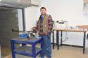 Former NCAA all American and U.S. Shooting team member Luke Johnson lot testing an Anne at the new Ohio Lapua rimfire testing facility