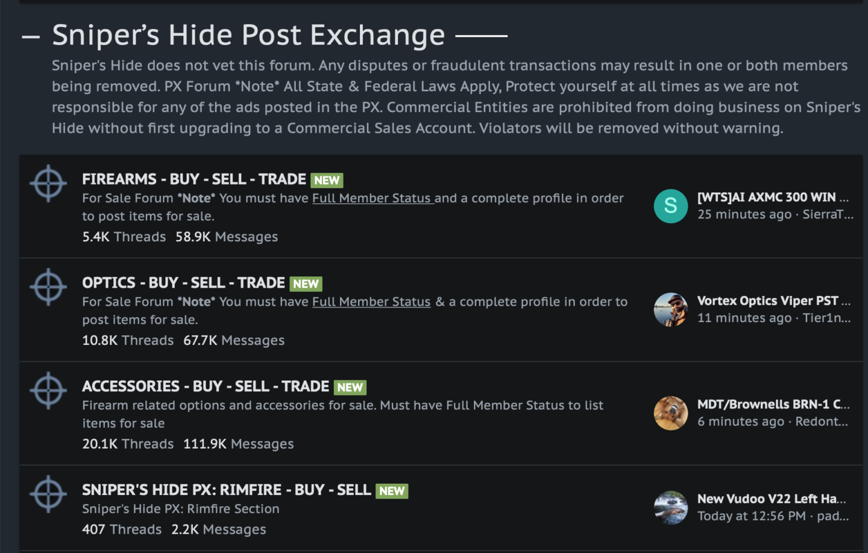 Sniper's Hide Forum