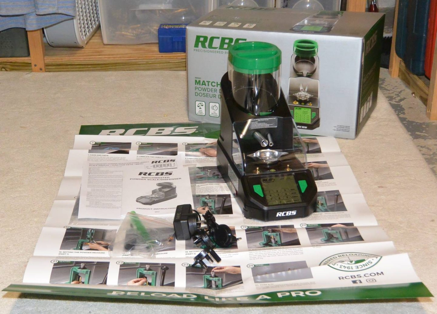 RCBS MatchMaster powder measure unboxing