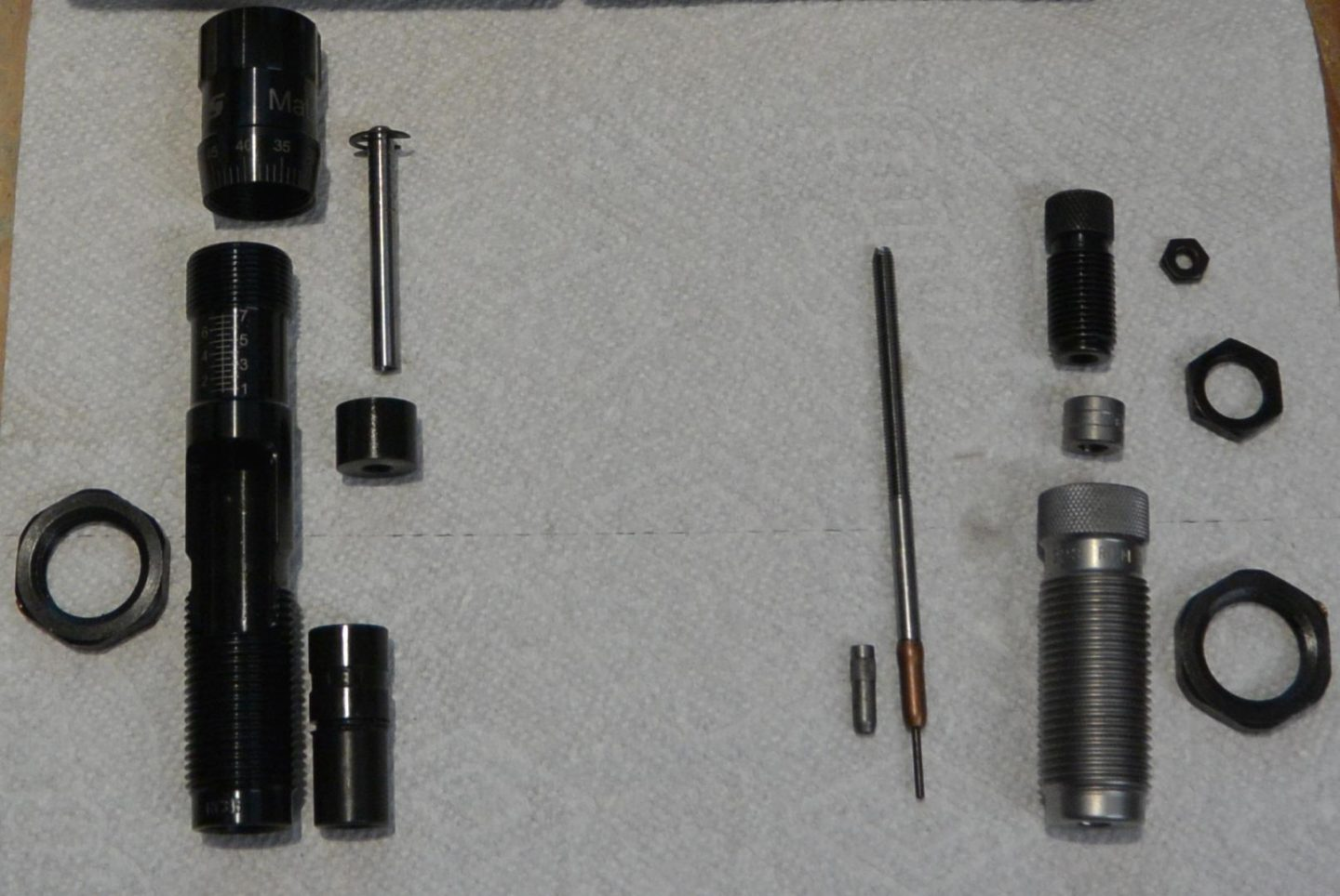 RCBS MatchMaster Competition seating and FL sizing dies disassembled
