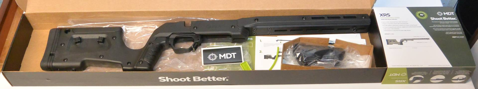 The MDT XRS unboxing pic. Very much a ready for retail shelves package
