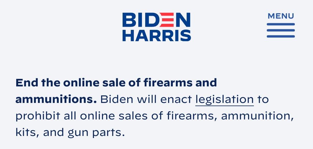 Biden Attack on Online Gun Rights