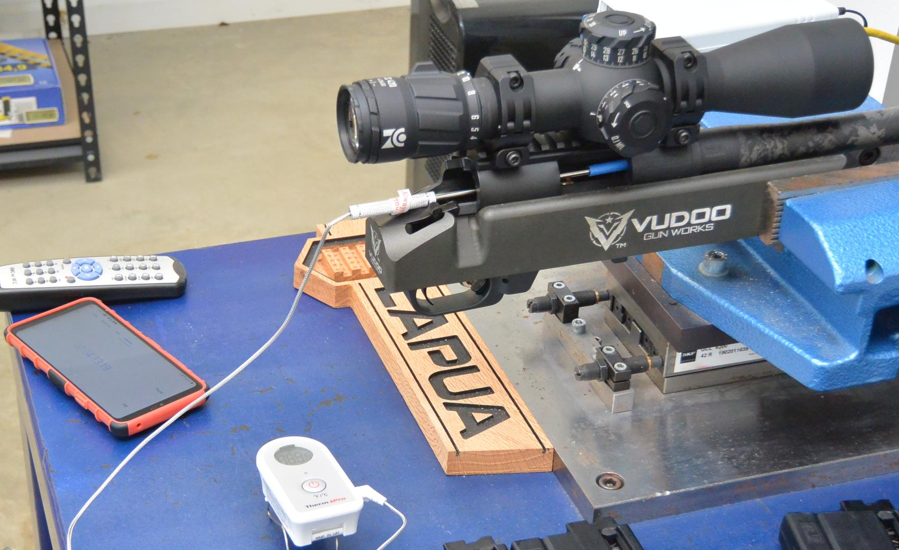 Testing the Cooling Rate of the Proof Carbon Fiber Barreled Vudoo V-22 at the Lapua Test Center