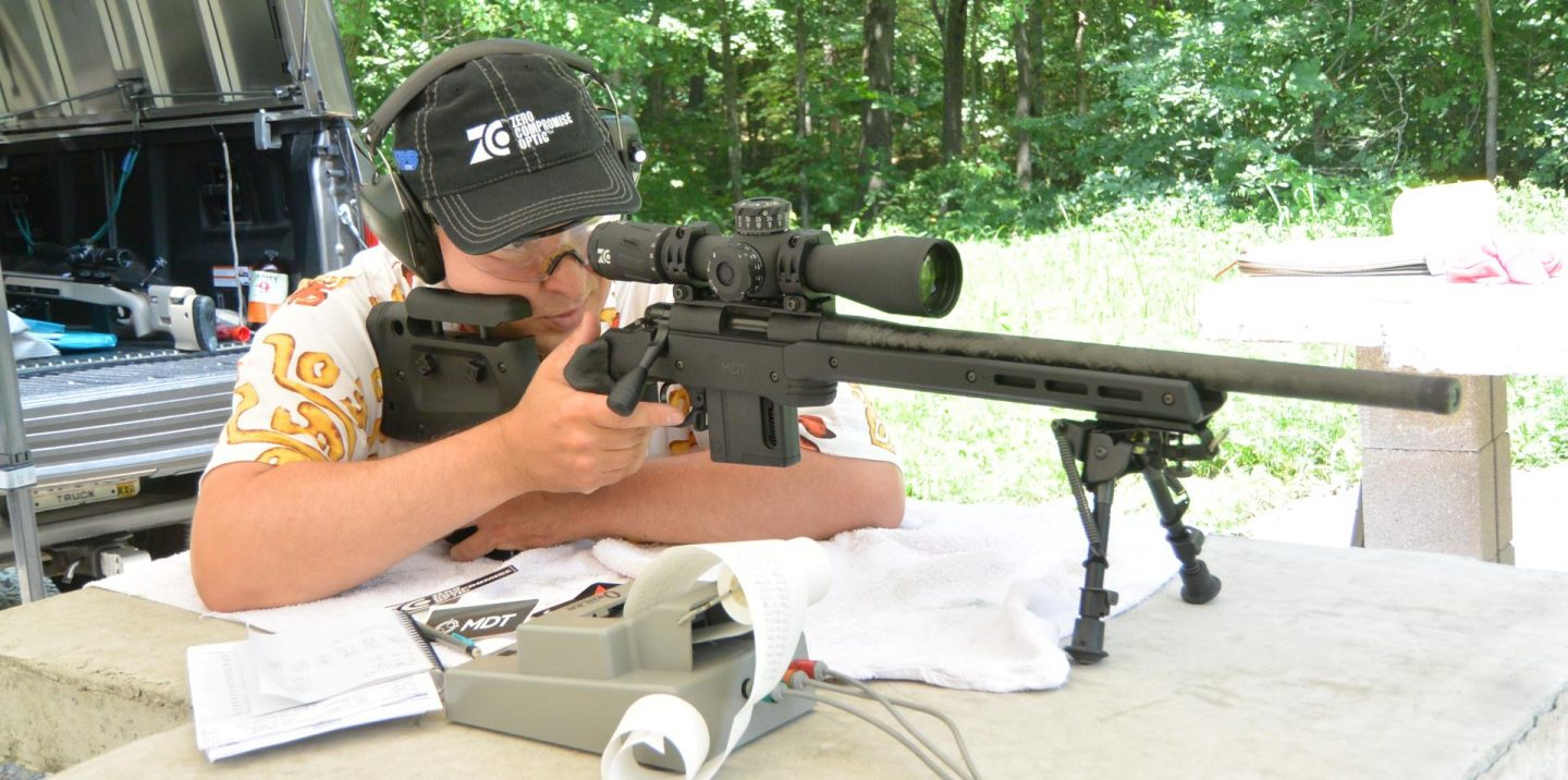 Testing some ammunition in the Vudoo V-22 with Proof Carbon barrel, MDT XRS Chassis, TriggerTech 2-stage Trigger, and ZCO 420 Scope.