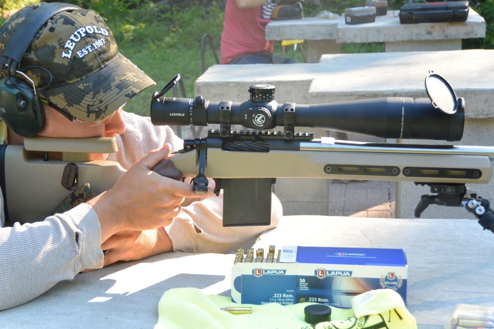https://u.cubeupload.com/BigJimFish/2021711mark5kelblyla.jpg Competition day with the Leupold Mark 5HD 5-25x56 on the Kelbly's Atlas Tactical rifle in a Grayboe Ridgeback stock with Lapua factory ammo
