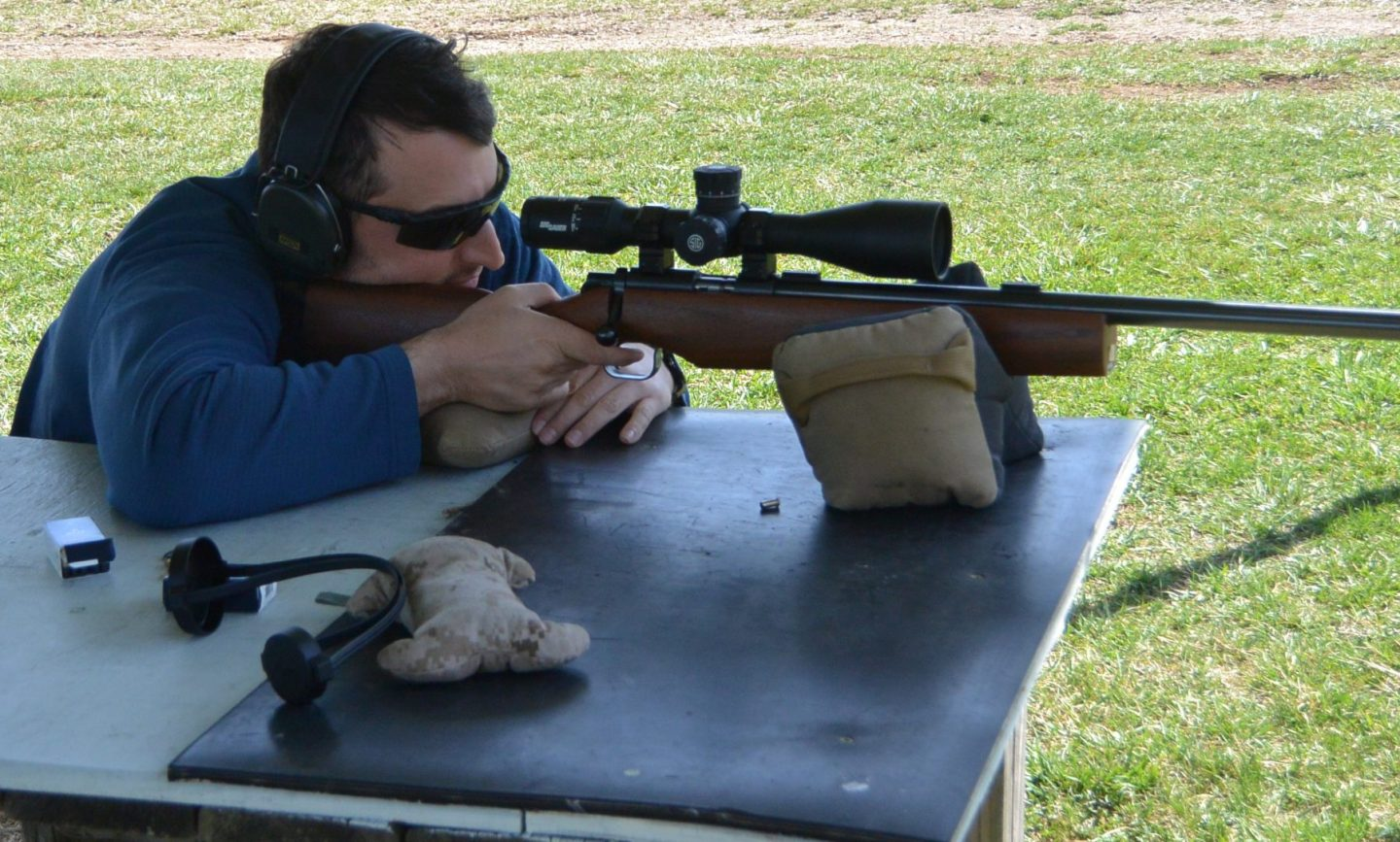 Sharing the fun with the Sig Tango6 5-30x56 on the long range .22lr course
