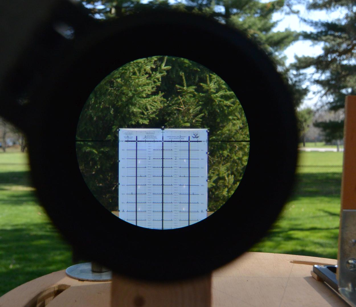 Performing mechanical testing on the Minox 5-25x56 LR using the Horus CATS tall target