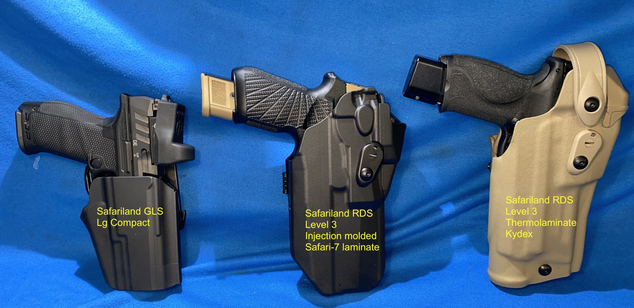 IMG_8634Walther PDP Sig P320 M&P9 2.0 PC with Leupold Delta Point Pro 2.5 MOA and Holsters 03....jpg