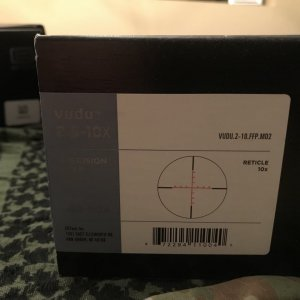 EOTech VUDU - 2.5-10X44 - VUDU.2-10.FFP.MD2 - FFP in the MD2  Great Condition, Ive never mounted it, Box and Paperwork - $900